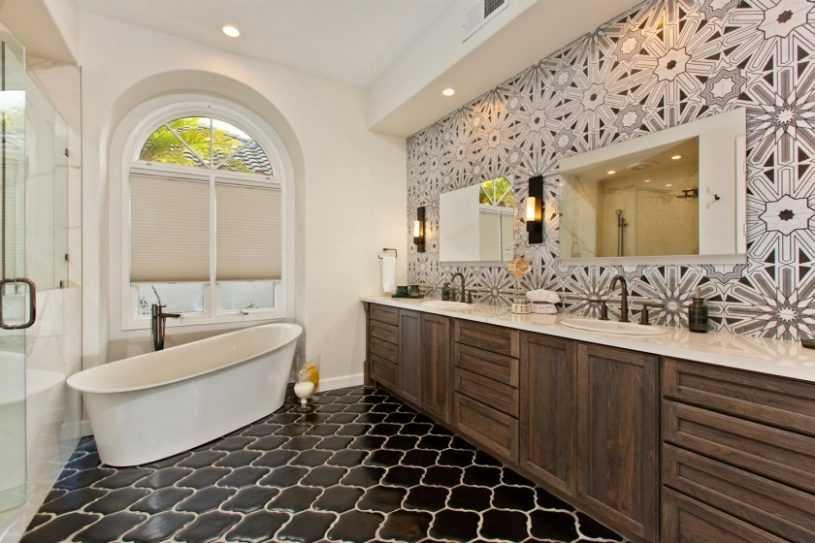 Современный дизайн ванной комнаты: актуальные варианты оформления и украшения ванной комнаты