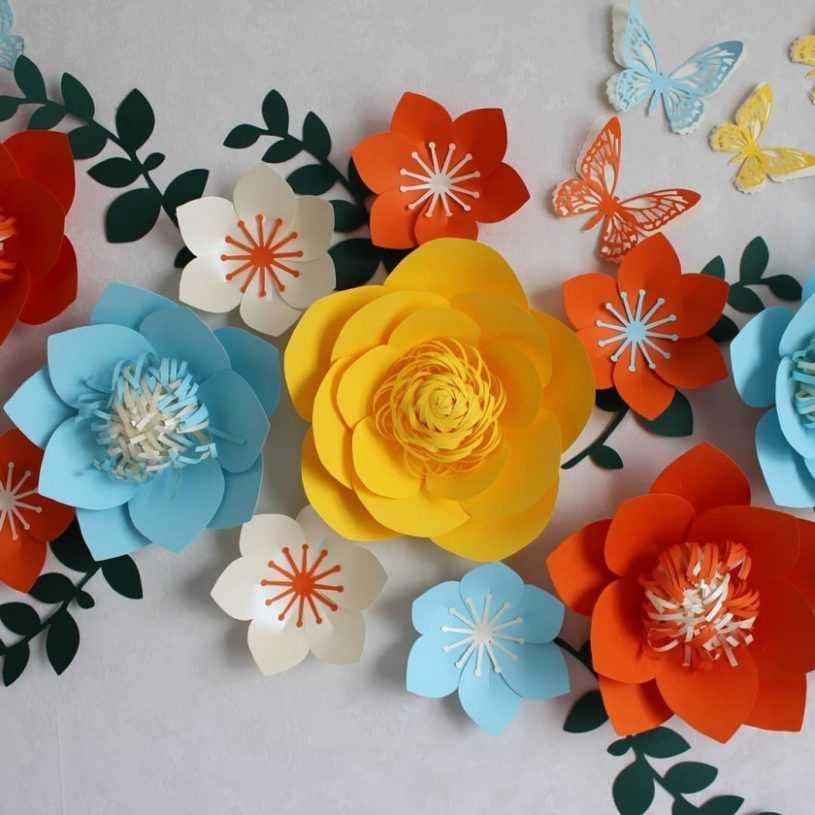 Объемные цветы из бумаги — правильное визуальное оформление интерьера. Лучшие стили и варианты цветов
