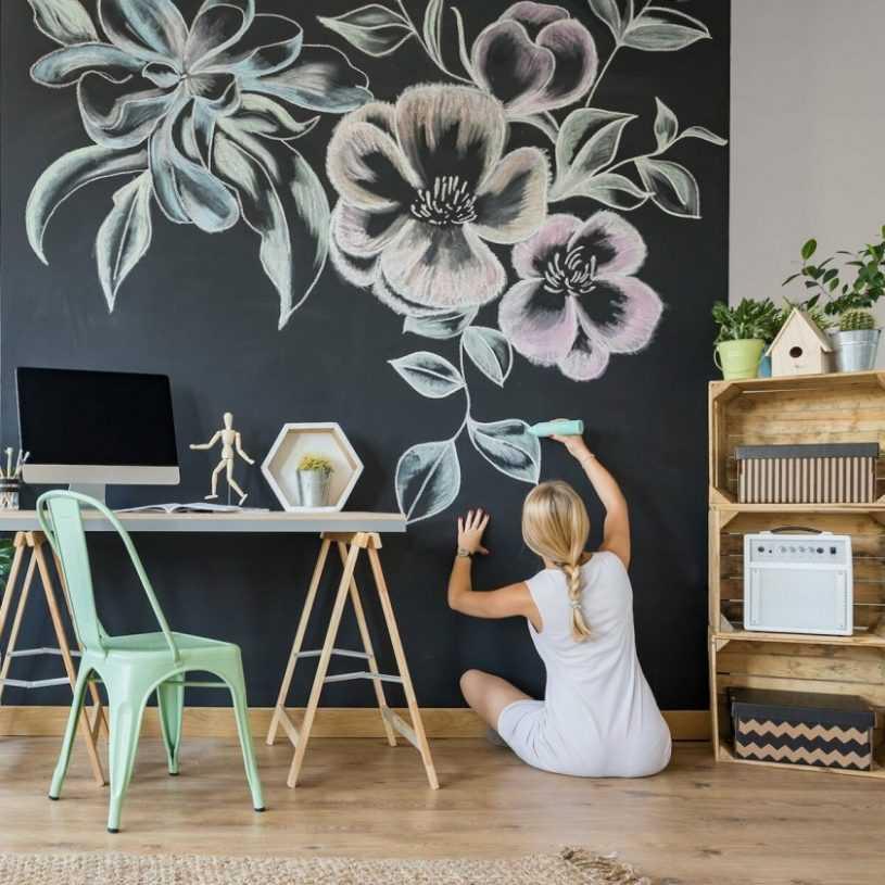 Роспись стен в интерьере — особенности, варианты дизайна и стильные идеи сочетания в оформлении