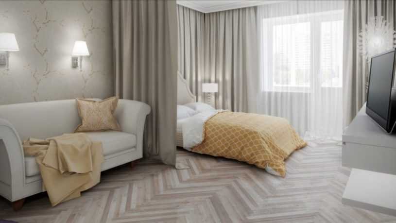 Правильное зонирование комнаты на спальню и гостиную: как это делается правильно! Пошаговая инструкция и 130 фото-идей