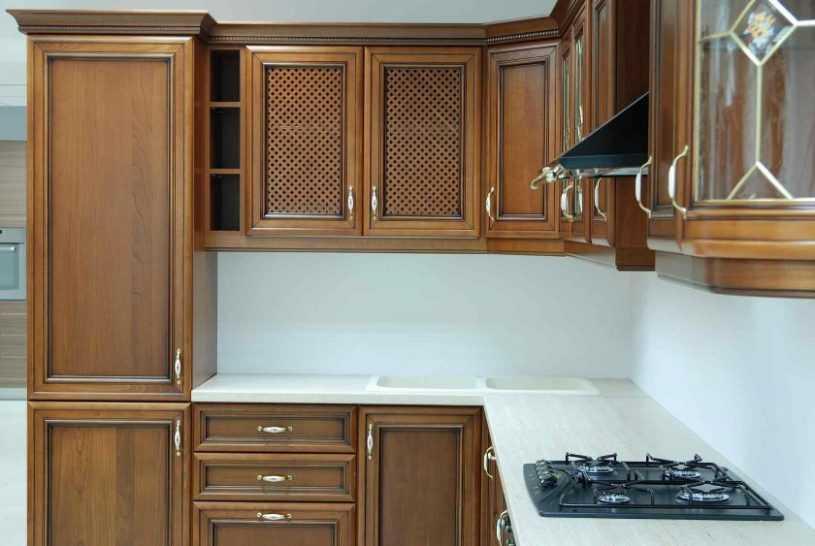 Фасады для кухни: основные проекты, варианты оформления и сочетания материалов и цвета