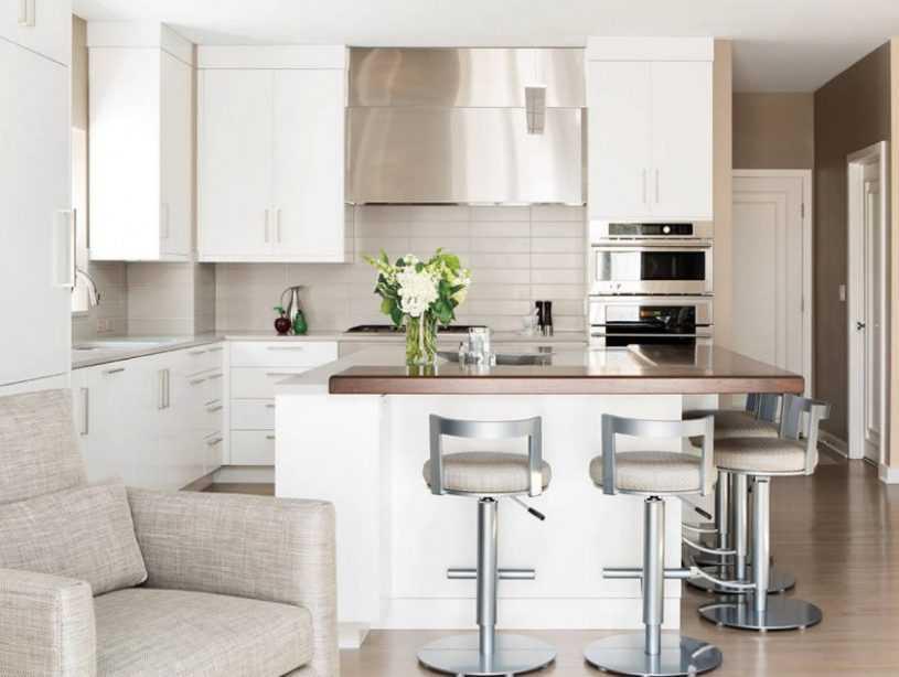 Кухня с барной стойкой | 170 фото красивых кухонных барных стоек и особенности их применения