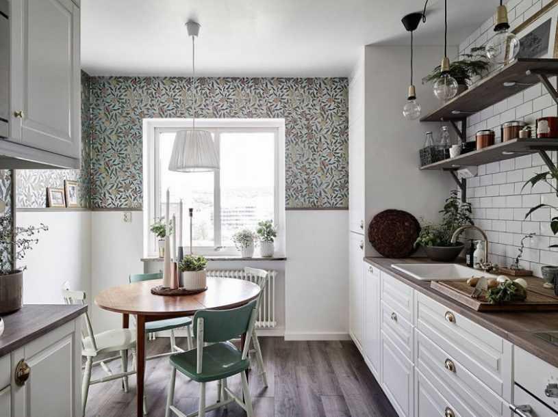 Обои для кухни — 180 фото идей дизайна и советы как преобразовать кухню при помощи обоев