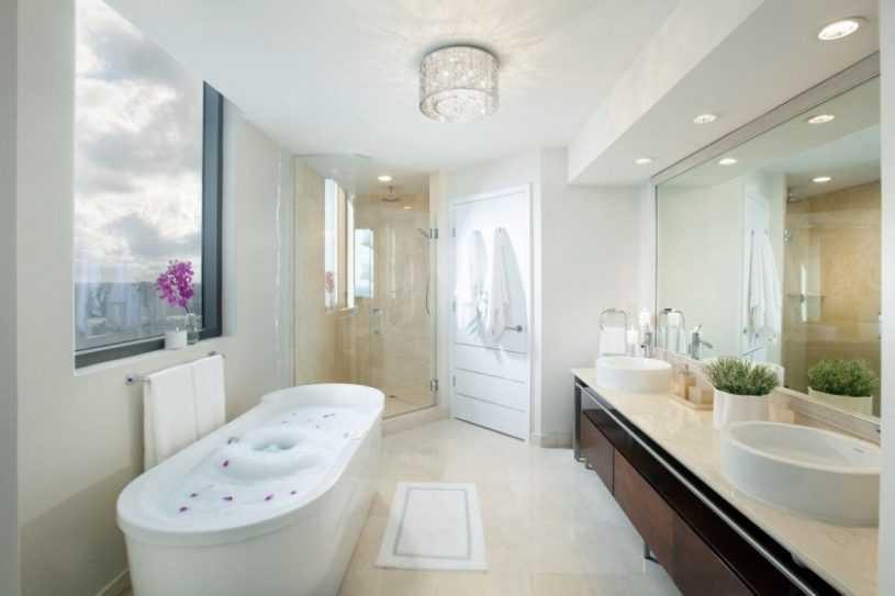 Освещение в ванной комнате: варианты освещения, разновидности и стилистика светильников. Требования к освещению ванной комнаты (фото + видео)