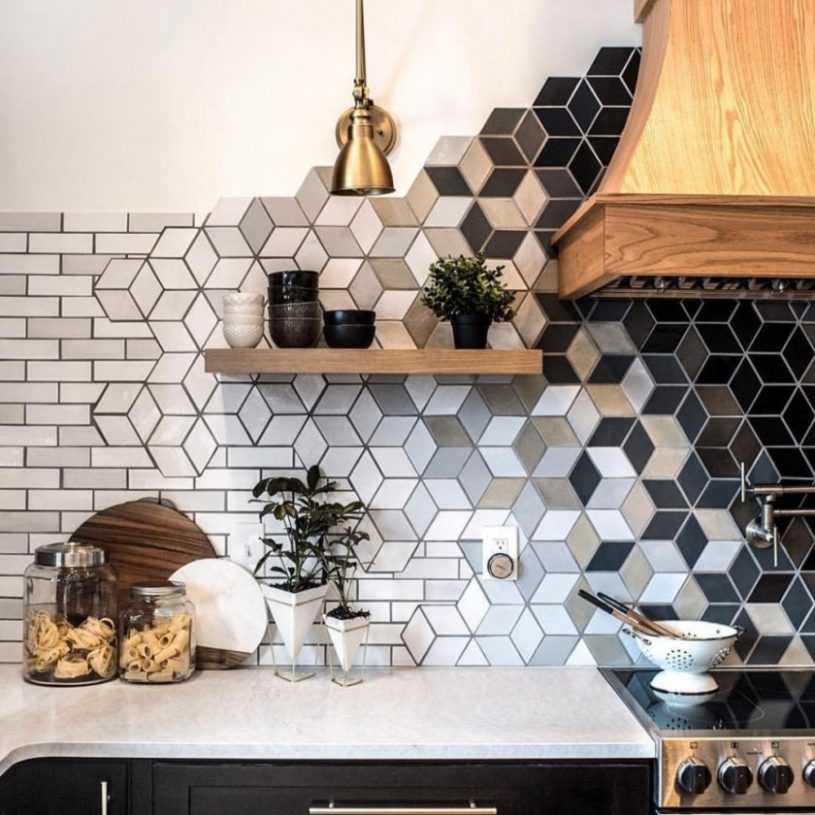 Плитка для кухни: стильные, красивые сочетания и правила применения в кухонном дизайне
