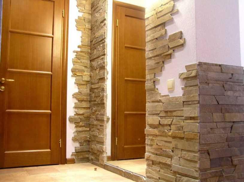 Отделка прихожей камнем: подобное описание как сделать правильно и красиво оформление камнем