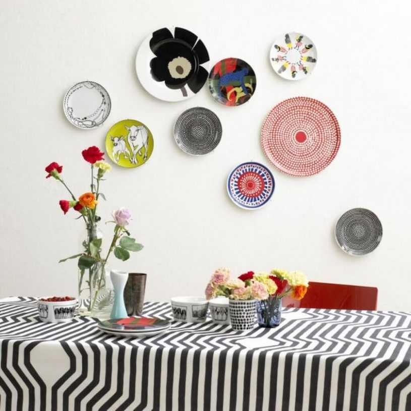 Тарелки на стену: идеи декора и варианты оформления стен при помощи тарелок (135 фото-идей)